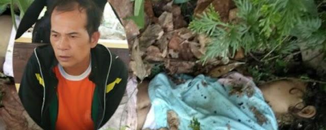 Tersangka pelaku pemerkosaan dan pembunuhan terhadap murid SD (kiri), jenazah korban saat ditemukan (kanan)