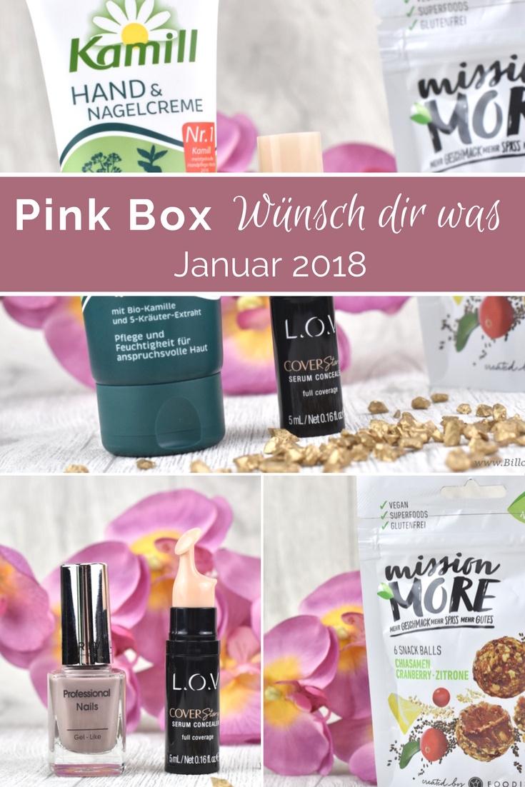 Pink Box Januar 2018 - Motto Wünsch dir was - Unboxing und Inhalt