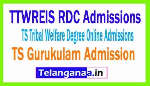 TTWREIS RDC Admissions / TS Tribal Welfare Degree Online Admissions 2018 -TS Gurukulam Admission