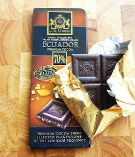 dark chocolate with caramel