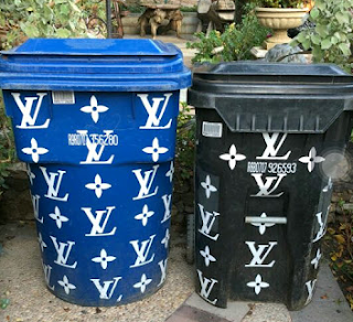 Too much money! Kim Kardashian shows off her Louis Vuitton trash bins