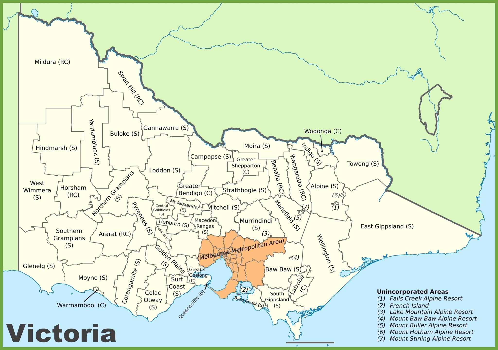 Map Of Victoria Australia Car Radio Gps
