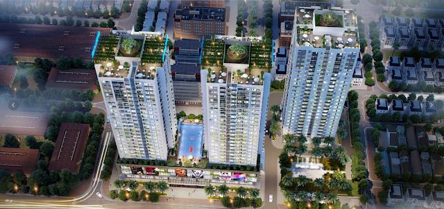 Khuôn viên rộng lớn tại chung cư Rivera Park Hà Nội