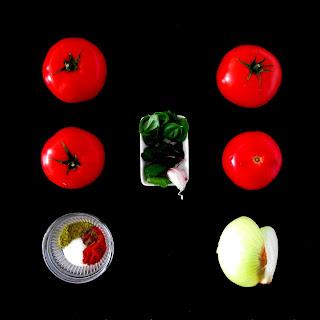 Składniki na dip pomidorowy