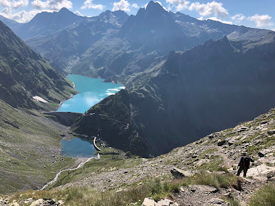 Reservoir of Barbellino in view.