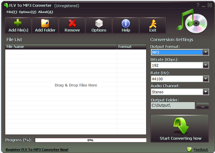 FLV To MP3 Converter Free