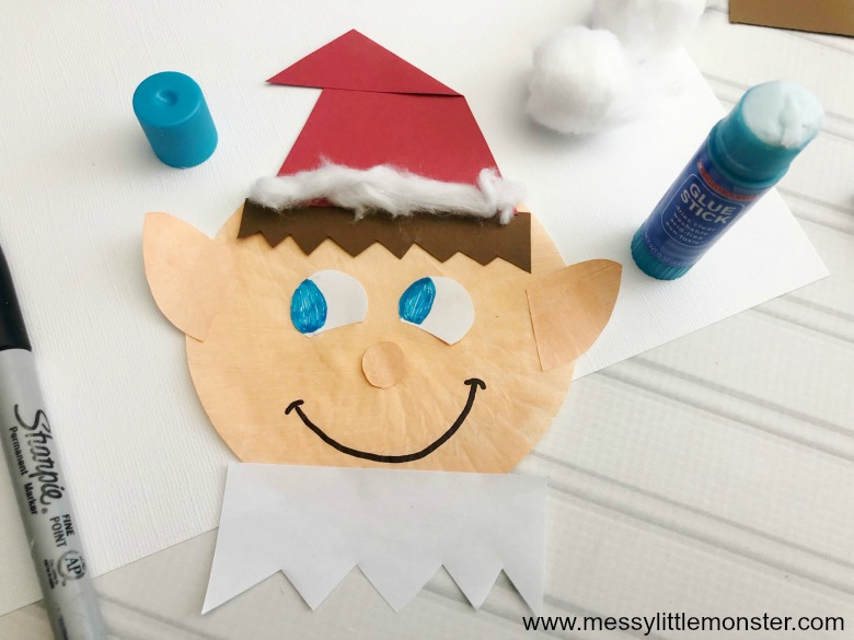 Elf on the shelf craft. Easy elf craft for kids.