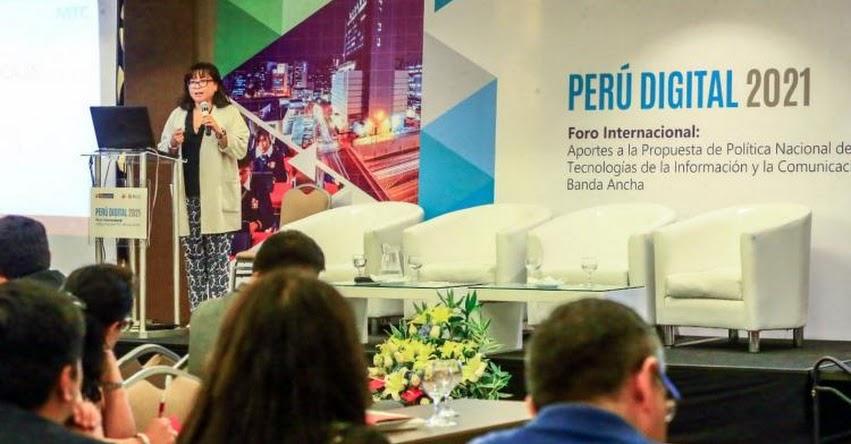 Ministerio de Transportes presentó política nacional orientada a Teleeducación y Telesalud