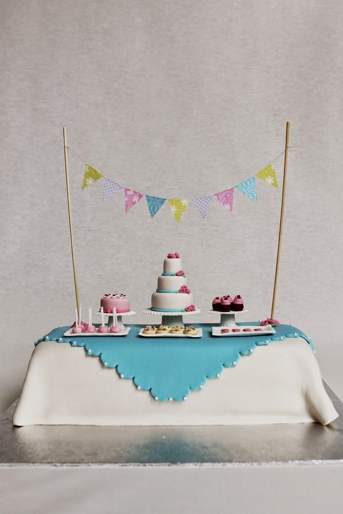 Dessertbords tårta