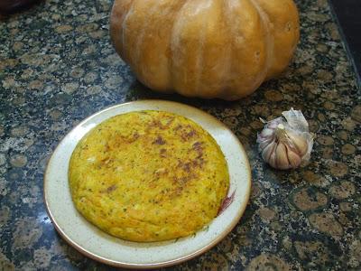 Tortilla de patata y calabaza.