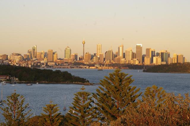 Sydney skyline at sunrise