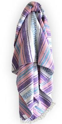 Pastel Mexican Blanket - $34.99 Springtime Bohemian Home Decor {Pastel Bohemian, Springtime Boho Home Decorations, Bohemian Easter}