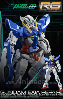 Gundam Exia Repair II GN-001RE2 Real Grade (RG) 1/144 Model Kit Mobile Suit Gundam 00