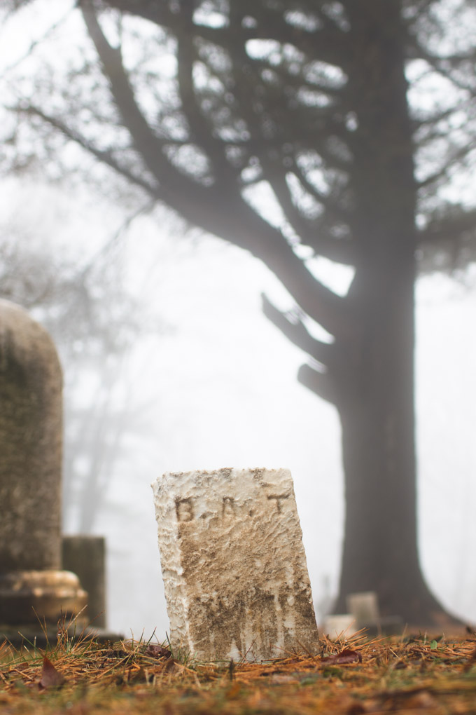 fog, headstone, graveyard