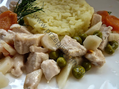 Potrawka z duszonego kurczaka
