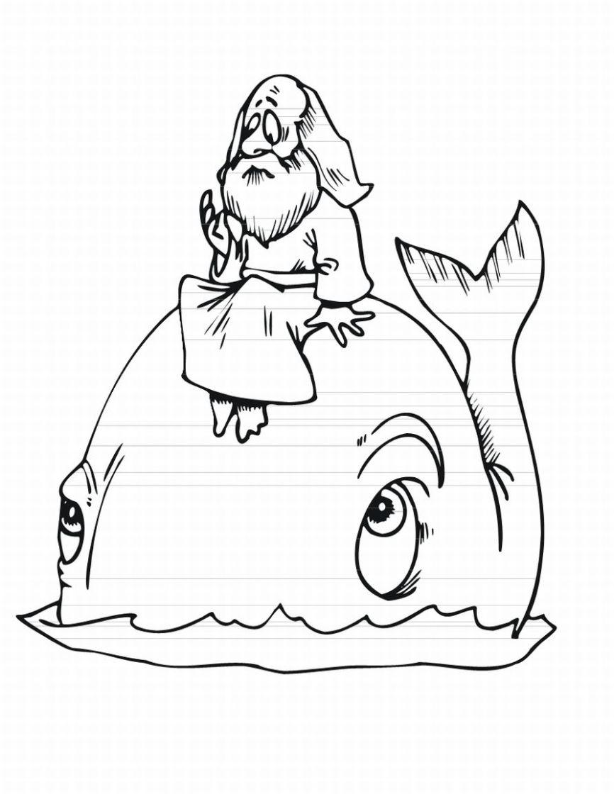 Dibujo De Jonás Para Colorear Dibujos Cristianos Para Colorear
