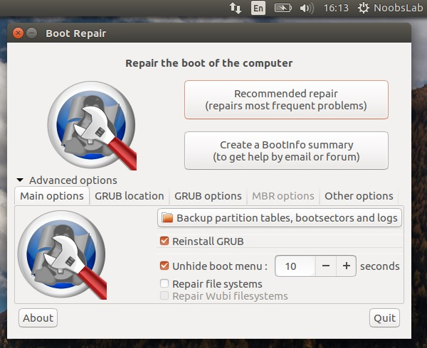 Fix Ubuntu/Linux Mint boot and grub issues with Boot-Repair
