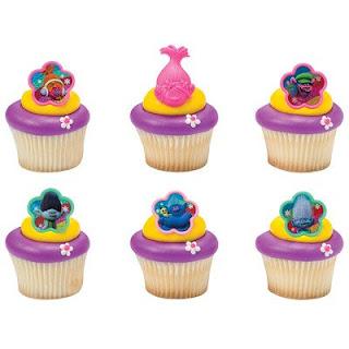 trolls cupcake rings