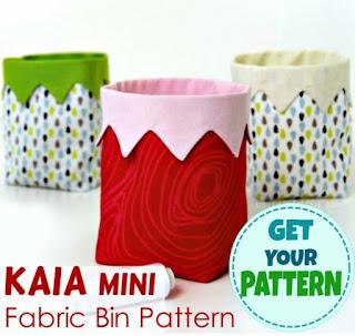 sewing pattern for fabric bin