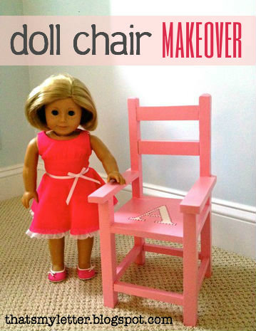 doll chair makeover