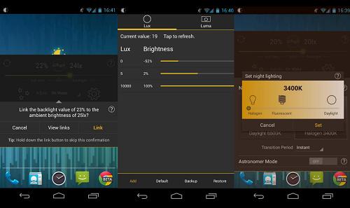 حل مشكلة شاشة الهواتف الضارة مع تطبيق Lux Lite