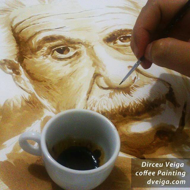 13-Albert-Einstein-Dirceu-Veiga-Coffee-Good-for-Drinking-and-Good-for-Painting