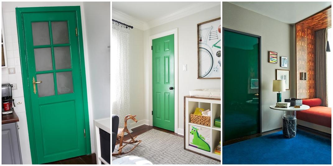 Znalezione obrazy dla zapytania zielone drzwi na ścianie