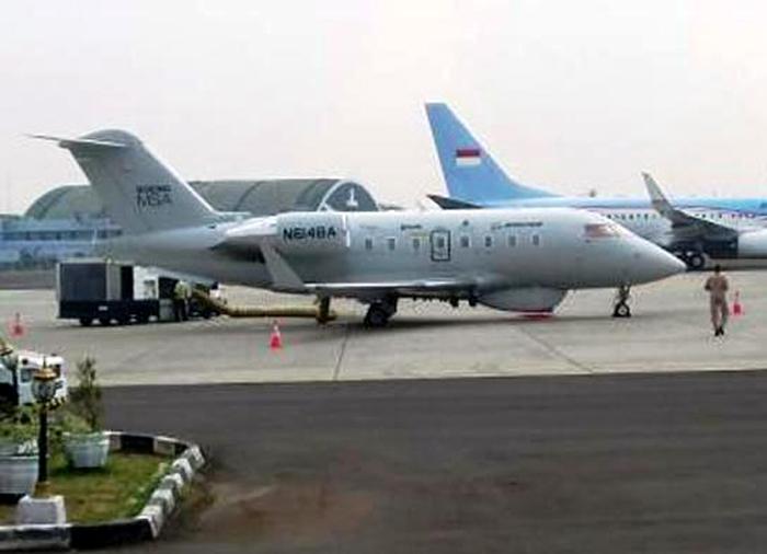 Boeing MSA di bandara Halim Perdanakusumah