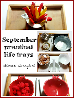 Montessori inspired September practical life and fine motor activities for preschoolers by Welcome to Mommyhood #montessori, #practicallife, #finemotoractivities