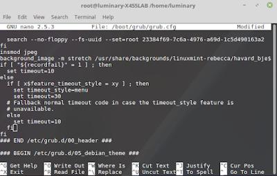 Cara Mengubah Timeout Pada GRUB2 Linux