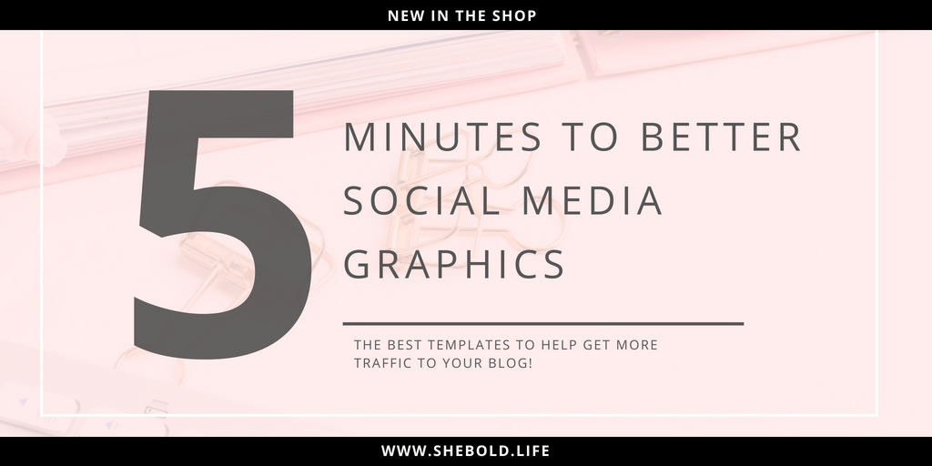 how to make social media graphics in 5 minutes she bold