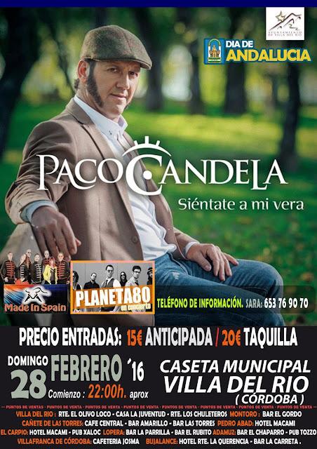 Paco Candela en concierto en Villa del Río