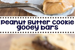 Peanut Butter Cookie Gooey Bars Recipe