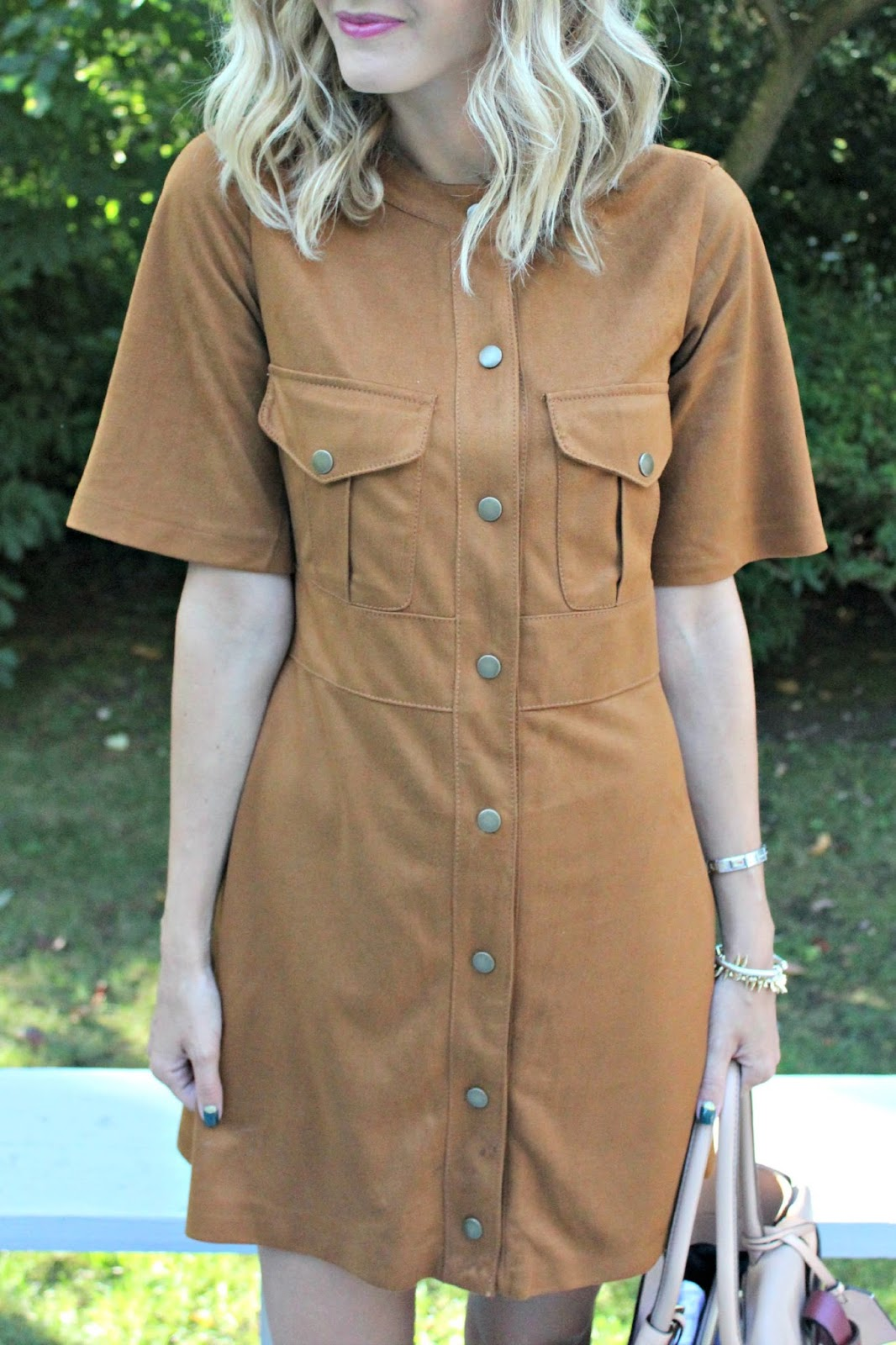 zara brown suede dress