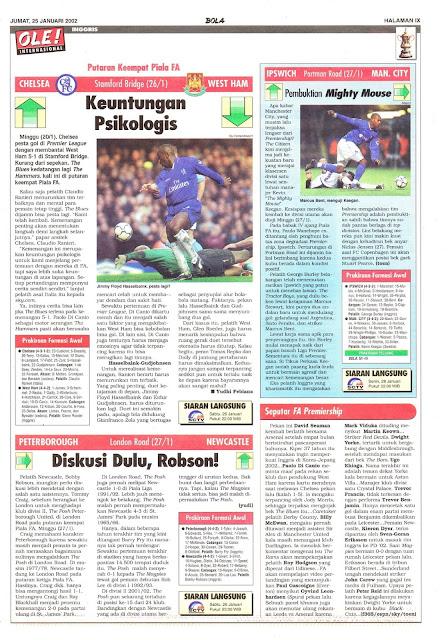 FA CUP 2002 NEWS