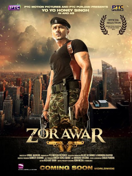 Poster of Zorawar 2016 480p pDVDRip Punjabi Full Movie Download