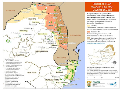 Malaria, South Africa, Limpopo, Mpumalanga, KwaZulu-Natal, risk map