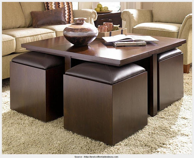 Great Coffee Table With Stools Pictures