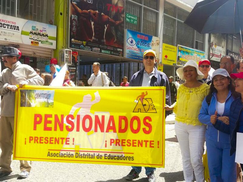 ADE acompañó la movilización de los pensionados este martes 18 de julio