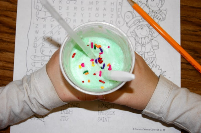 Enjoying a Leprechaun Shake for St. Patrick's Day Image
