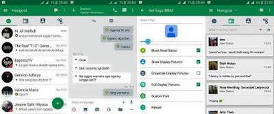Download BBM2 Mod Hangout Green V 2.10.0.31 Apk Clone