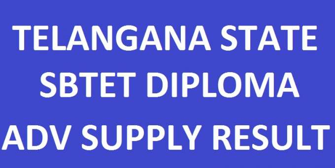 TS SBTET Diploma Advanced Supply Results