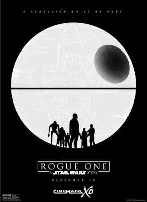 Star Wars Rogue One CineMark XD Teaser Theatrical One Sheet Movie Poster