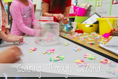 Do you have a ton of left over conversation hearts from Valentine's Day?! Not sure what to do with all of them? Here are some fun and easy ways to use candy hearts in your classroom for math!