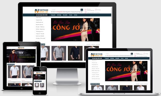 Templates blogspot bán hàng thời trang nam nữ