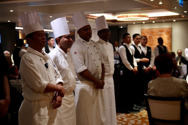 Parade of chefs. Britannia, P and O cruise ship. pic: Kerstin Rodgers/msmarmitelover