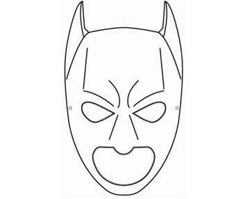 harley quinn mask template - batman template printable cake ideas and designs