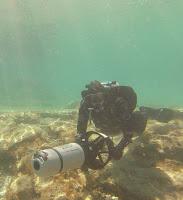diver on SUEX XJoy 7 leaving green bay cyprus
