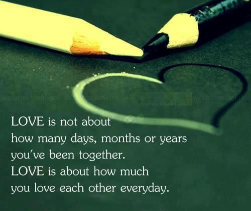 Love Quotes For Each Month Of The Year: Quotes & Inspiration: Love Is Not About How Many Days