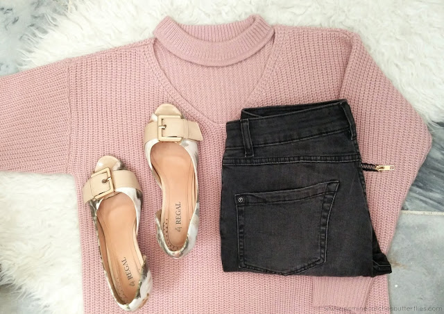 Transitioning To Spring In Pink With A Choker Jumper